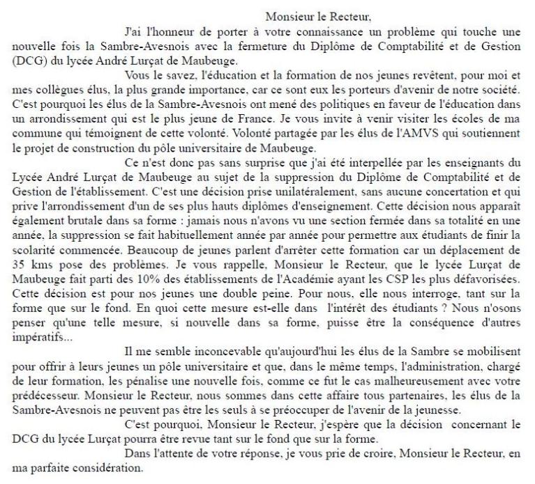 Lycée Lurçat : Intervention d'Annick Mattighello au sujet du Diplôme de Comptabilité et de Gestion dans Education nationale capture13