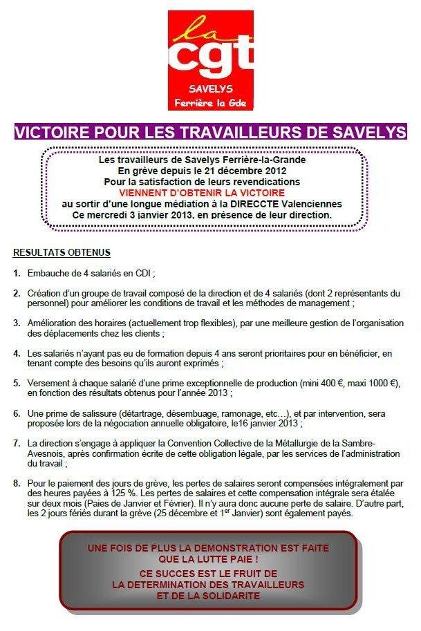 Victoire pour les salariés de Savelys - Ferrière-la-Grande dans Emplois savelys0