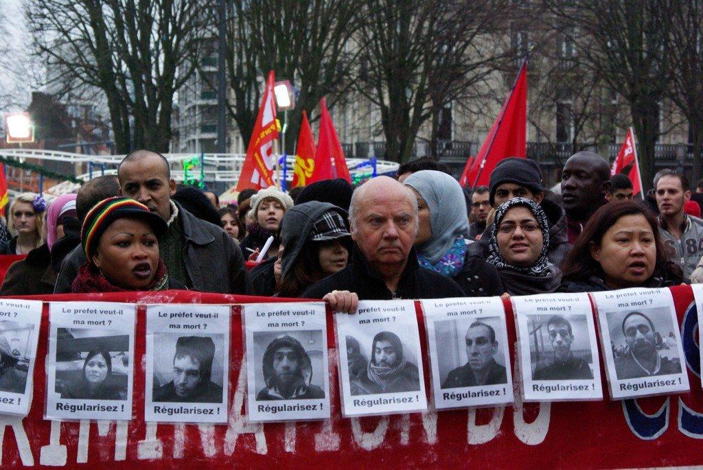 5 janvier : 300 personnes à Lille pour soutenir les sans-papiers en grève de la faim dans France splil21