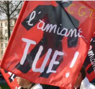 Amiante : Trente anciens salariés d'Alstom St Ouen  investissent le siège du groupe Alstom Grid pour exiger le respect de leurs droits captureamiante