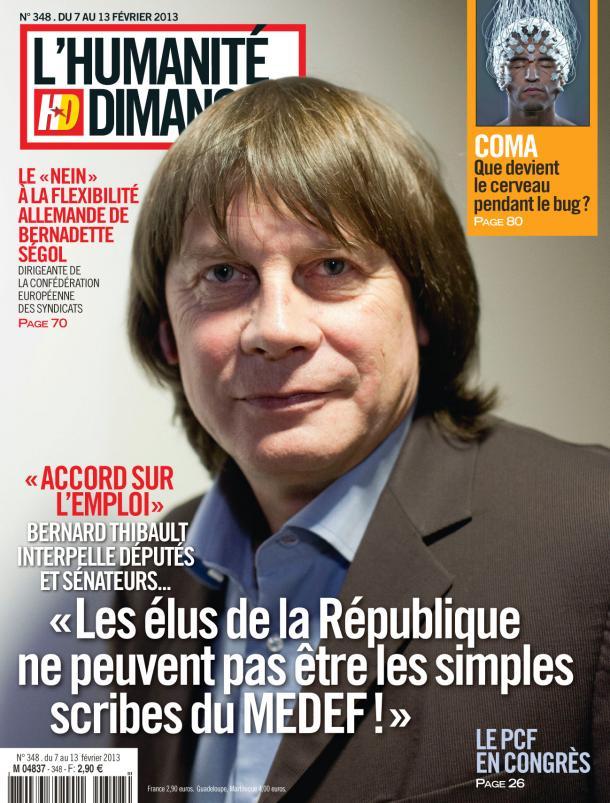 L'Humanité Dimanche : entretien avec Bernard Thibault dans Austerite hd0702