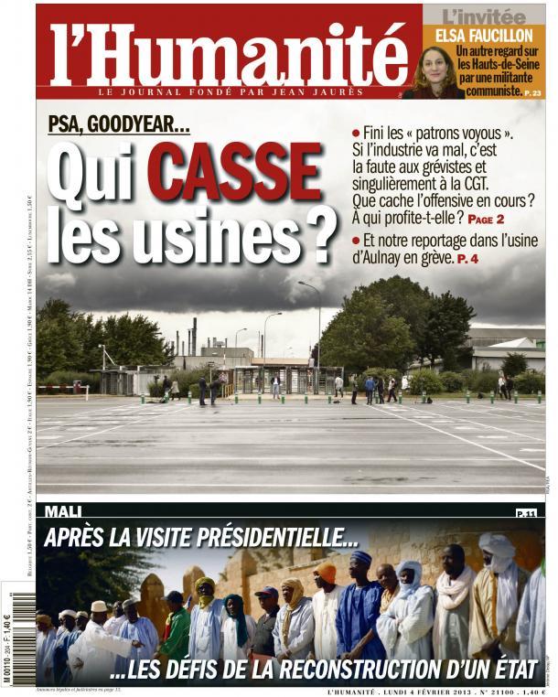 PSA, GOODYEAR... QUI CASSE LES USINES ? dans André Chassaigne huma0402