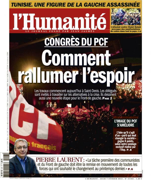 Congrès du PCF : Gagner la bataille du changement ! dans France huma0702