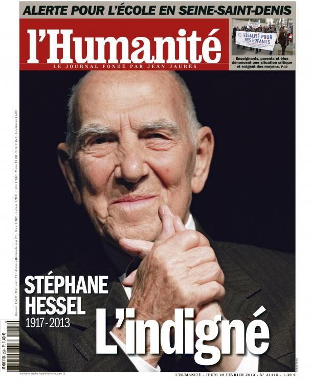 L'Humanité spéciale Stéphane Hessel dans l'Humanité huma2802