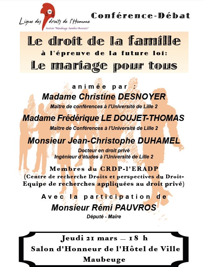 A vos agendas : Maubeuge - 21 mars 2013 :