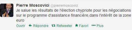Pierre Moscovici salue la victoire de la droite à Chypre dans Austerite moscovici-twitte