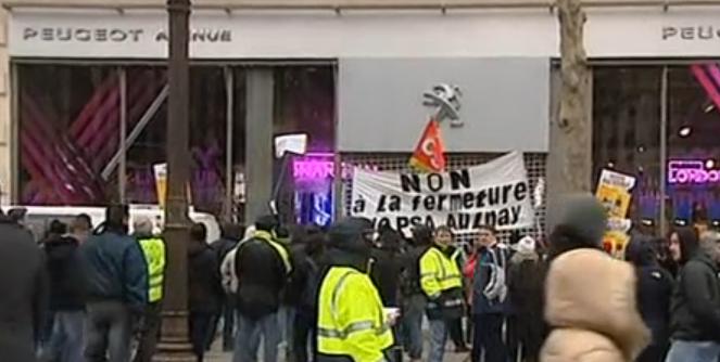Les PSA Aulnay sur les Champs-Élysées  dans CGT psaaulnay2