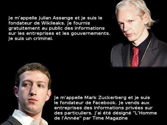 Humour et Politique dans Humour assangezuckerberg