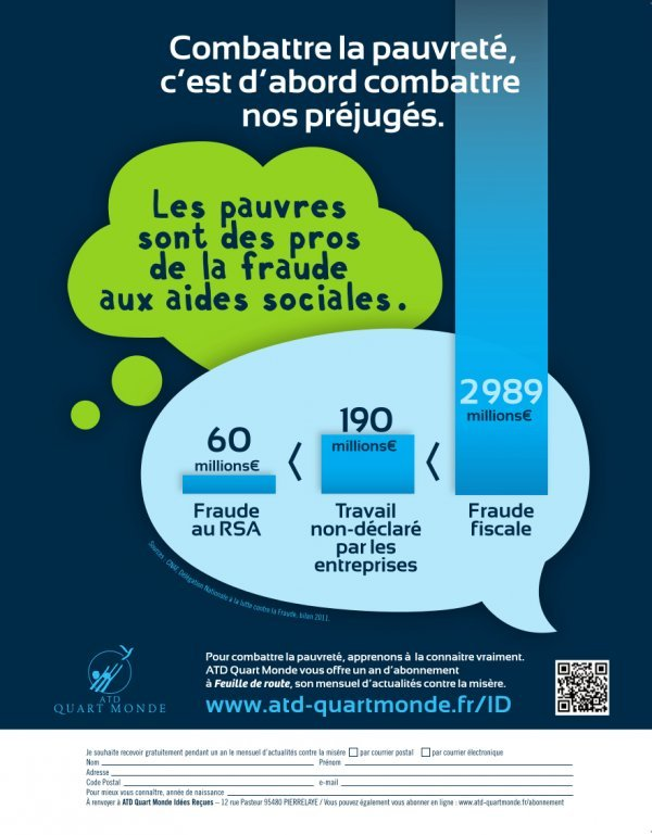 Campagne ATD Quart Monde contre les idées reçues sur la pauvreté dans Pauvrete atd1