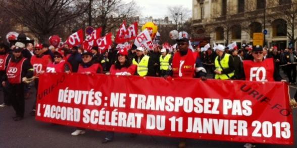 La CGT, FO et Solidaires appellent à manifester contre l'ANI mardi 9 avril dans Assemblee nationale cgtfo
