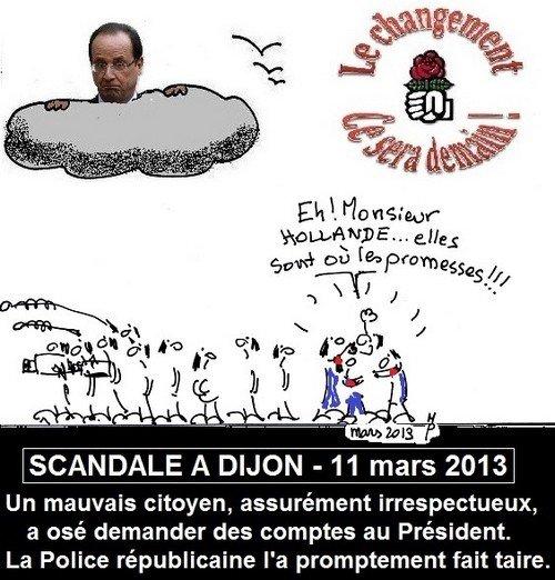 Scandale à Dijon dans F. Hollande dijon