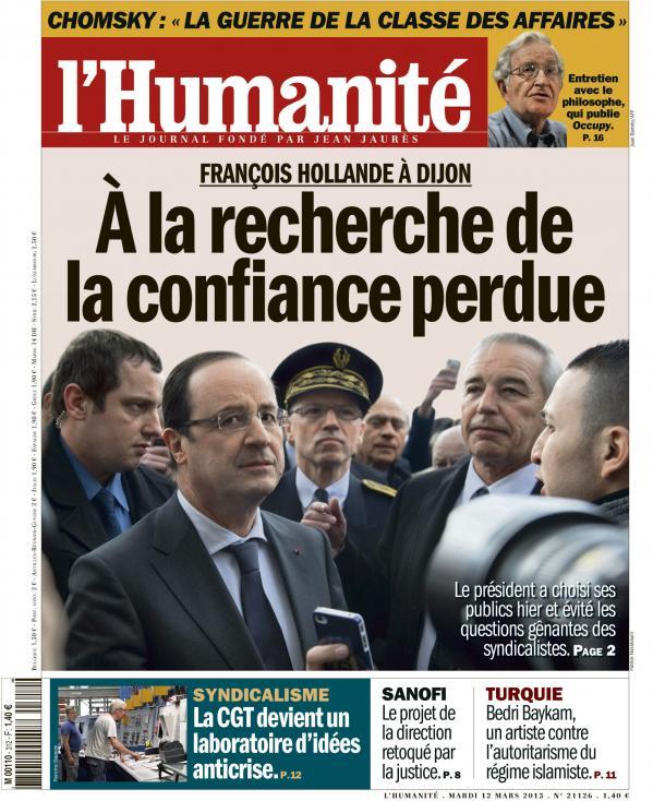 François Hollande à Dijon dans Austerite huma1203