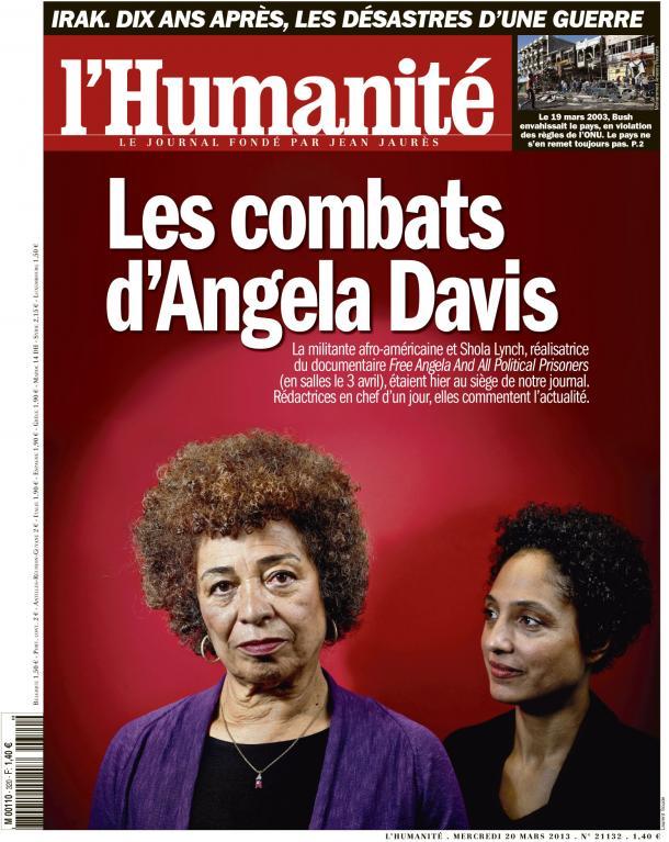 Angela Davis, rédactrice en chef exceptionnelle de l'Humanité dans ETATS-UNIS huma2003