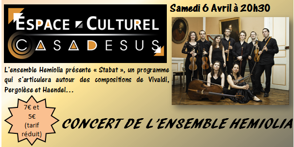 Louvroil - Samedi 6 avril : Concert de l'ensemble Hemiolia dans Culture louvroil