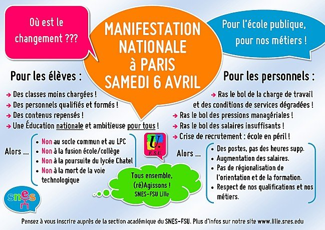 Pour l'école publique : manifestation nationale du 6 avril dans Education nationale manif-6-avril