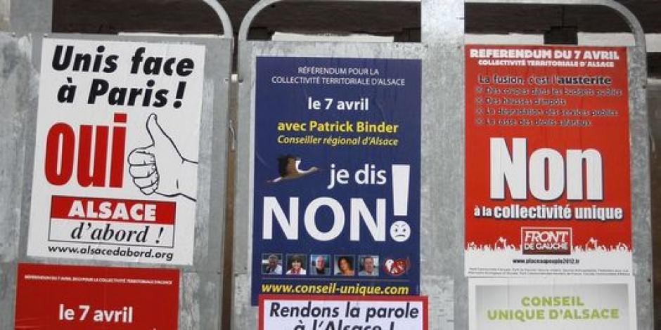 Référendum : les Alsaciens disent non au projet de fusion des trois entités territoriales dans France alsace