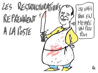 La Poste : le cynisme du PDG Jean-Paul Bailly dans ECONOMIE capturesudlaposte