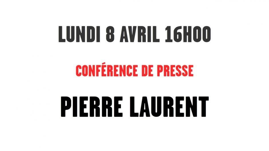 Conférence de presse de Pierre Laurent  dans PCF direct-conf-presse