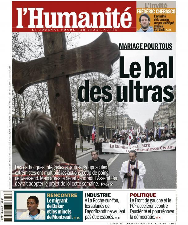 Mariage pour tous : Le bal des ultras dans Homophobie huma1504