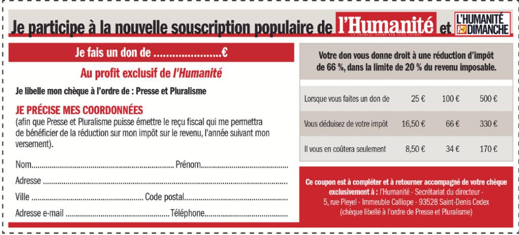 humasouscription Bernard Thibault dans Presse - Medias