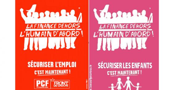 Après l'homophobie, le plagiat ! dans Front de Gauche affiche