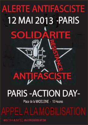 Peste brune : Non à la parade de l'extrême-droite le 12 mai à Paris dans Extreme-droite antifasciste