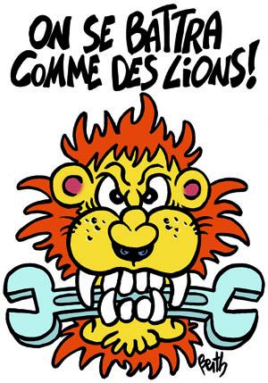 PSA : Le lion n'a pas à rugir, mais à rougir de honte !  (communiqué PCF93) dans CGT berth-peugeot400
