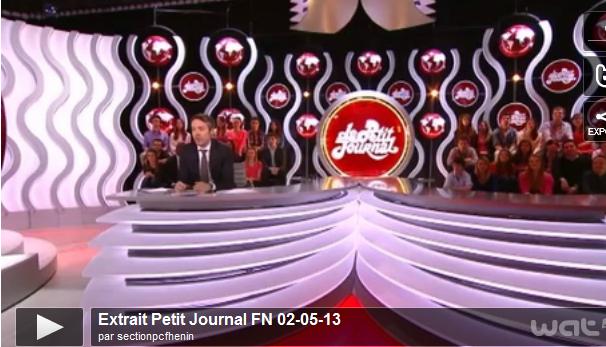 Le Petit Journal revient sur le 1er mai du FN (Le Petit Journal, 02-05-13) dans F-Haine capturecanal