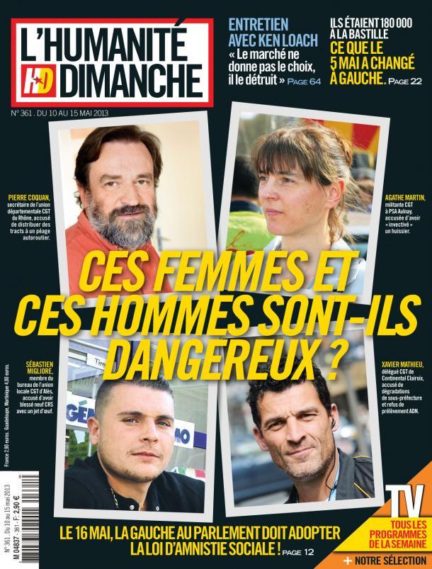 Dans L'Humanité Dimanche de cette semaine : Loi sur l'amnistie sociale, paroles de militants dans Humanite Dimanche hd1005