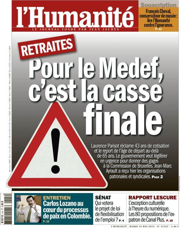 Retraites : Pour le Medef, c'est la casse finale ! dans Austerite huma1405