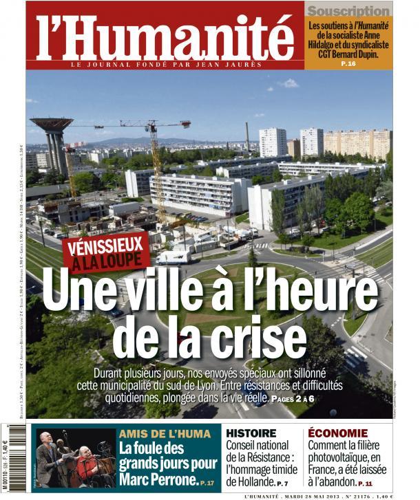 Venissieux : Une ville à l'heure de la crise dans Austerite huma2805