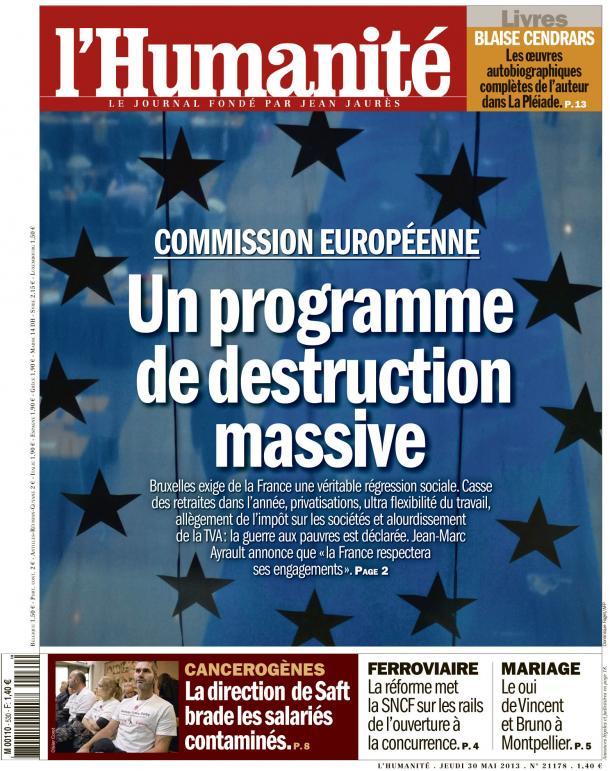 Bruxelles tire au canon sur le modèle social dans Austerite huma3005