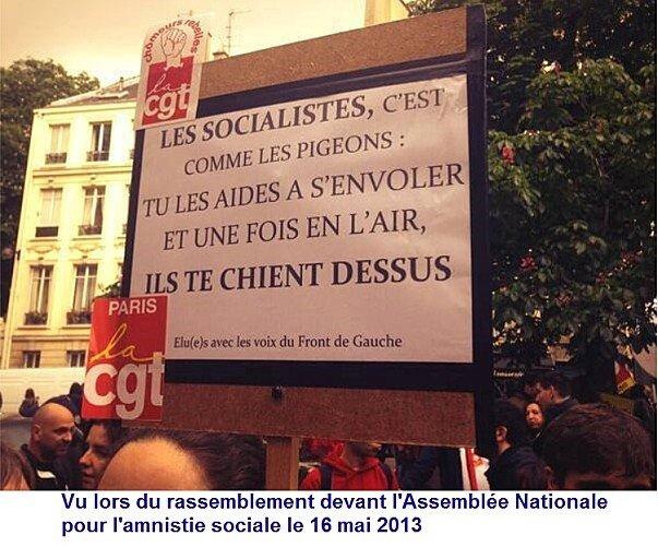 Vu le 16 mai lors du rassemblement devant l'Assemblée nationale pour l'amnistie sociale dans CGT manif1605