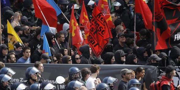 Des milliers d'opposants à l'austérité dans les rues de Francfort dans Allemagne francfort_austerite