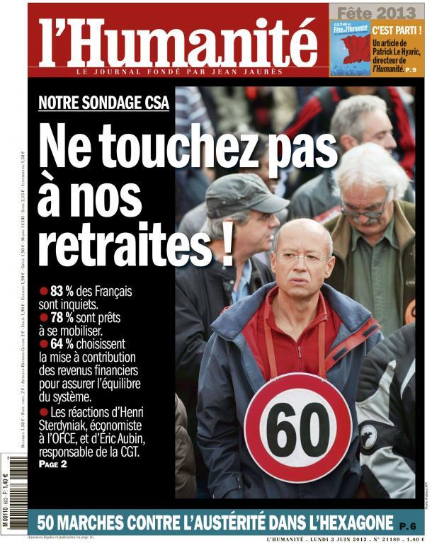 Retraites : Les Français inquiets mais pas résignés   dans ECONOMIE huma0306