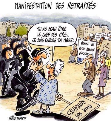 manif-retraites financement des retraites dans France