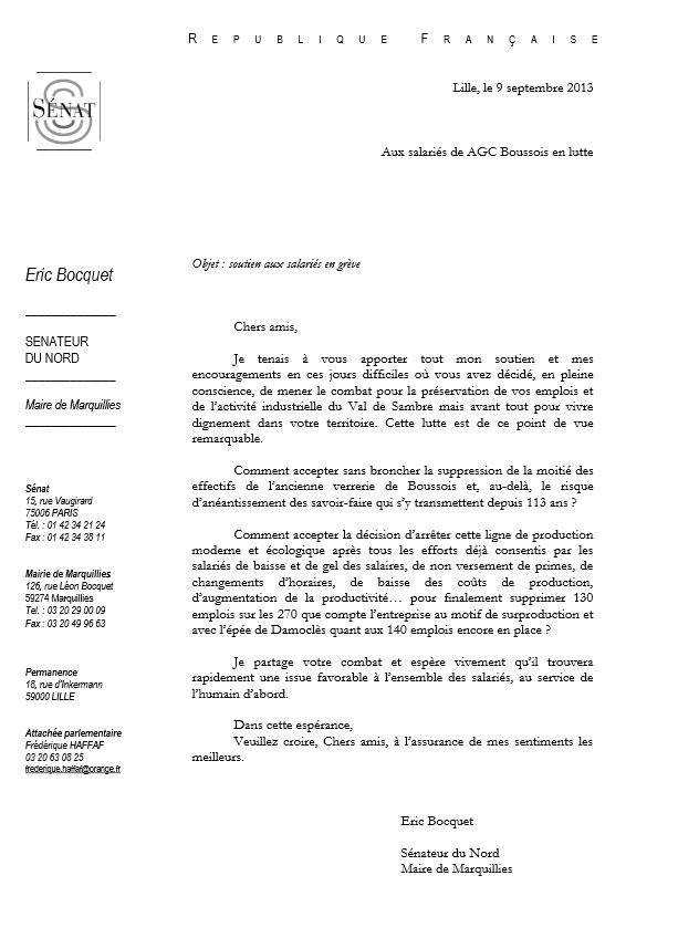 Soutien d'Éric Bocquet, sénateur du Nord, aux salariés d'AGC en lutte dans Emplois agcbocquet