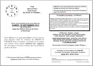 Maubeuge - 28 septembre : Cercle de Silence des 5 ans dans INFOS cercledesilence-300x212