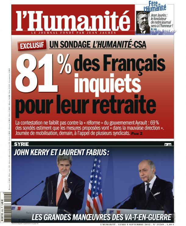 8 Français sur 10 inquiets quant à leur retraite dans ECONOMIE huma0909