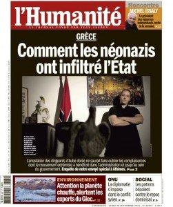 Grèce : Comment les néonazis ont infiltré l'État (enquête Humanité) dans Extreme-droite huma3009-251x300