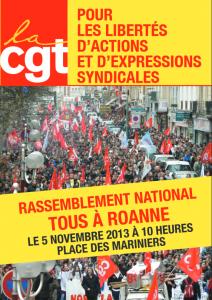 CGT : Tous à Roanne le 5 novembre pour les libertés d'actions et d'expressions syndiales dans CGT cgtroanne-212x300