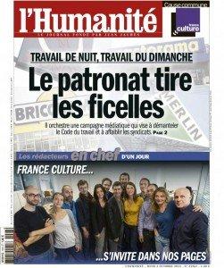France Culture, rédacteur en chef de l'Humanité d'aujourd'hui dans France Culture huma0310-251x300
