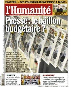 Presse : le bâillon budgétaire ? dans Austerite huma2310-247x300