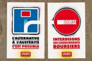 PCF : Campagne nationale d'actions pour la justice sociale, contre l'austérité et les licenciements  dans Austerite affiche-300x200