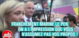 Marine Le Pen au salon du chocolat (Le Petit Journal, 31-10-13) dans F-Haine capturelepen-300x147