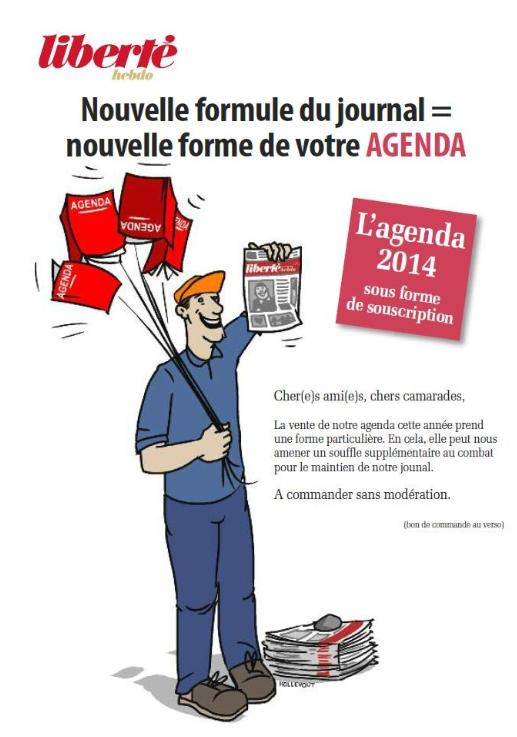 Liberté Hebdo : campagne d'abonnement et agendas dans Liberte Hebdo liberte1