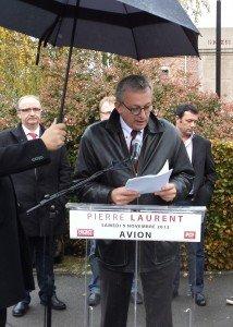 Discours de Pierre Laurent au Monument de la Paix (Avion) dans Hommages p.laurent