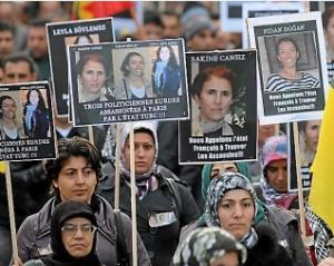 militantes kurdes assassinées