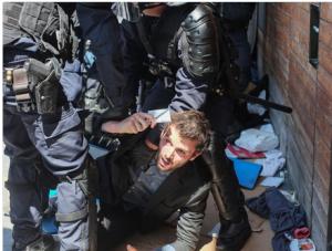 Captureviolencepolicièrehallepajol1